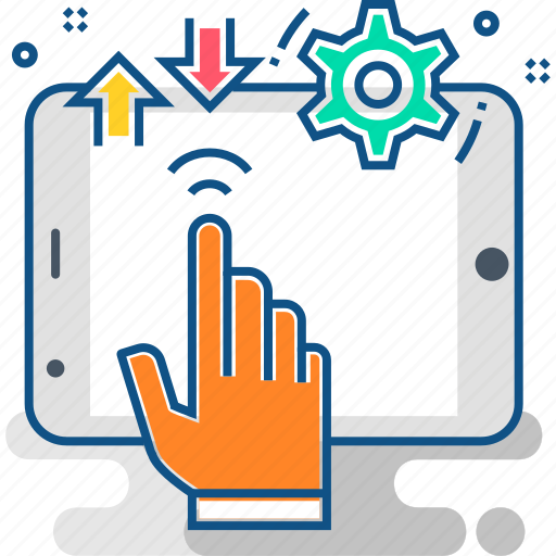 finger, fingers, gesture, hand, screen, tablet, touch icon