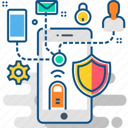 communication, connection, interaction, network, protection, secure, security icon