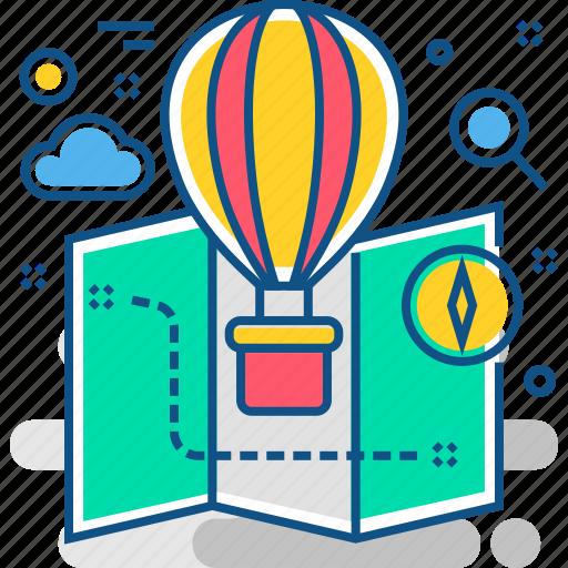 air, balloon, discover, explore, hot, optimization, search icon