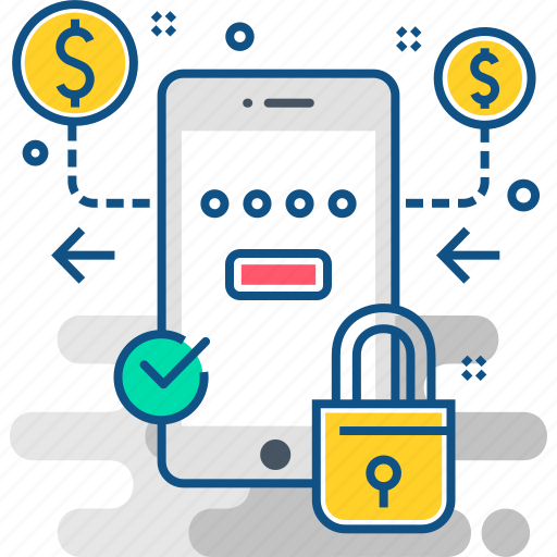 bank, cash, finance, money, payment, protection, secure icon