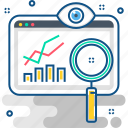 analytics, chart, diagram, graph, growth, monitoring, surveillance icon