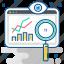 analytics, chart, diagram, graph, growth, monitoring, surveillance icon