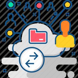 communication, internet, media, network, online, social, web icon