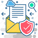 communication, email, message, secure, secured, security icon