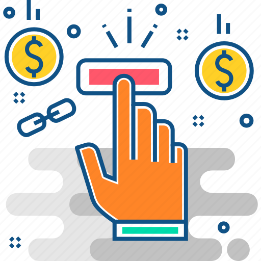click, money, online, pay, payment, per icon