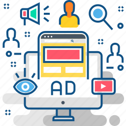 ad, ads, advertisement, advertising, announcement, campaign, promotion icon