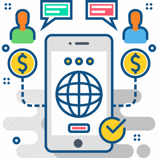 business, mobile, payment, payments, smartphone, users, web icon