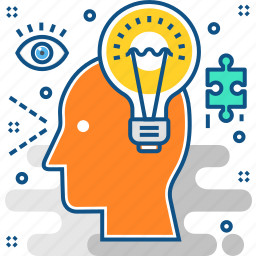 bulb, creative, defining, idea, puzzle, solution, strategy icon