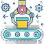 factory, industrial, industry, machine, manufacturing, production, robot icon