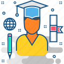 certificate, certification, degree, diploma, education, graduation icon