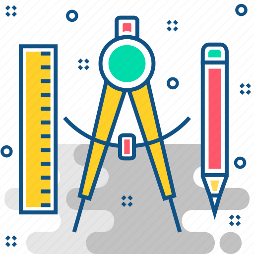 art, design, draw, drawing, pen, ruler, tool icon