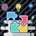 blocks, management, analytics, business, marketing, office icon