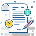 document, dollar, time, paper, documents, business, format