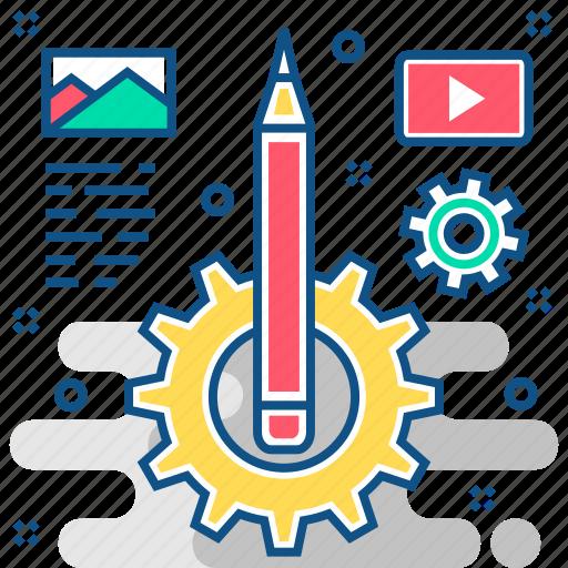 content management, contentmanagement, contentspage icon