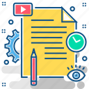 content, file, files, management, paper, sheet, text icon