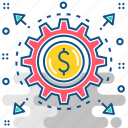 currency, finance, management, money, tools icon