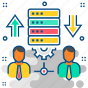 data, transfer, database, hosting, server, storage, users