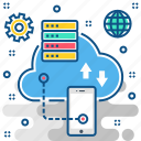 cloud, cloud computing, cloudcomputing, database, hosting, server, storage icon