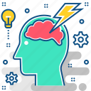 brain, brainstorming, creativity, idea, imagination, innovation icon