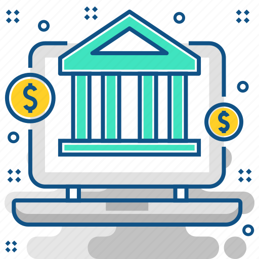 bank, banking, ebanking, ecommerce, online, online banking icon