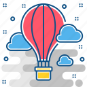 adventure, hot air balloon icon
