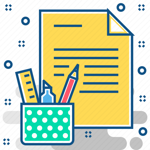 document, office, stationary, tools icon