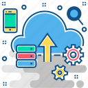 cloud, cloud computing, cloud storage, hosting, server, upload icon