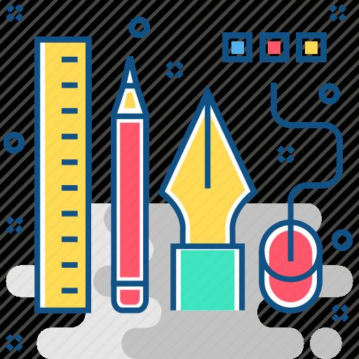 art, creative, design, tools icon