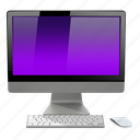 apple, computer, imac, mac, purple icon