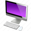 computer, imac, mac, purple icon