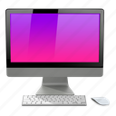 apple, imac, mac, pink icon