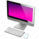 apple, computer, imac, mac, pink icon