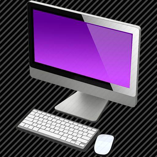 computer, imac, mac, purple icon