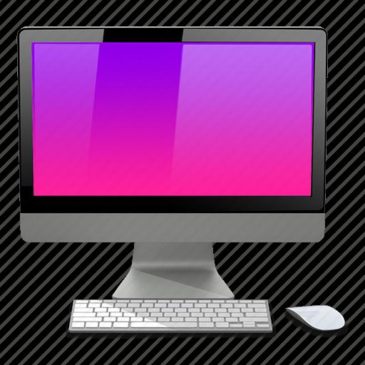 apple, imac, mac, pink icon