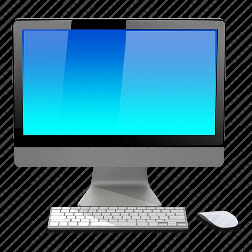 apple, blue, computer, imac icon
