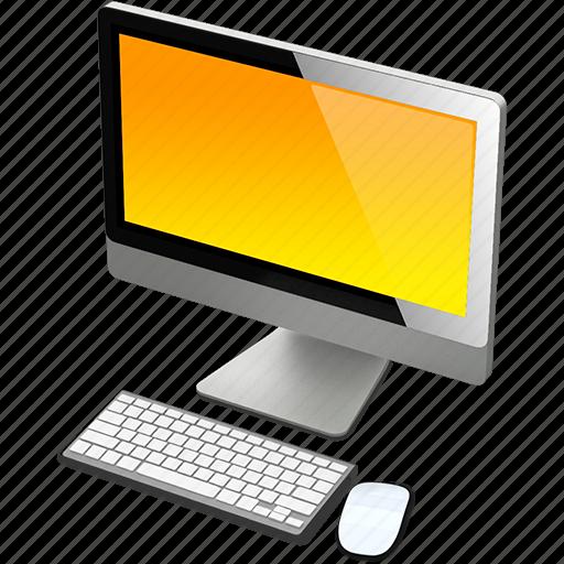 apple, computer, imac, mac, yellow icon