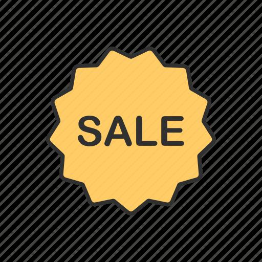 discount, sale, sale ribbon, shopping icon