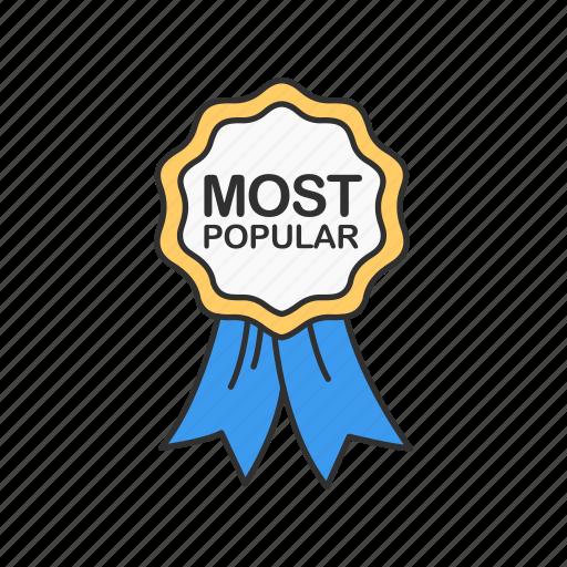 best seller, favorite, most popular, ribbon icon