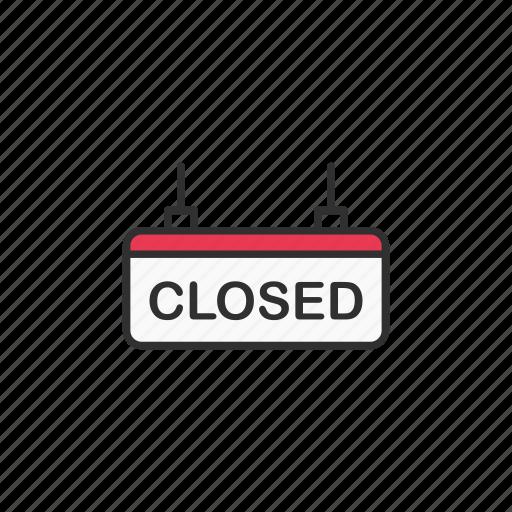 closed, shop, store closed, unaccessible icon