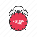 clock, limited time, shopping, time icon