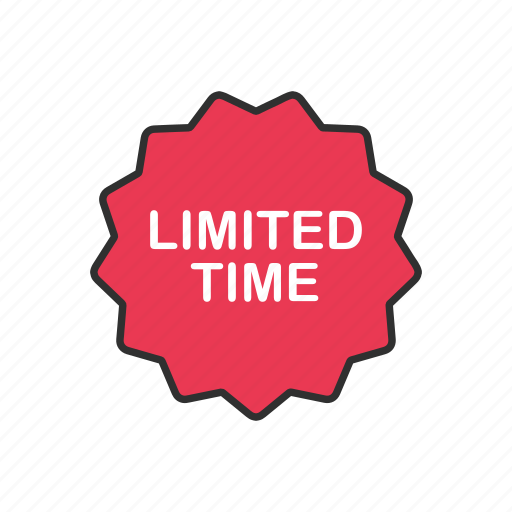 ecommerce, limited time, sale, shopping icon