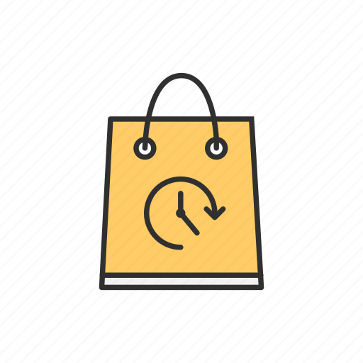 limited time, sale, shopping, shopping bag icon