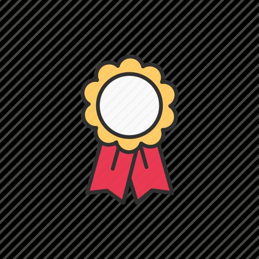 award, favorite, ribbon, top icon