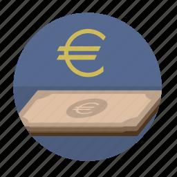 banknote, euro, money, round, sigh icon