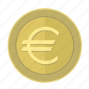 coin, euro, europe, money, pay icon