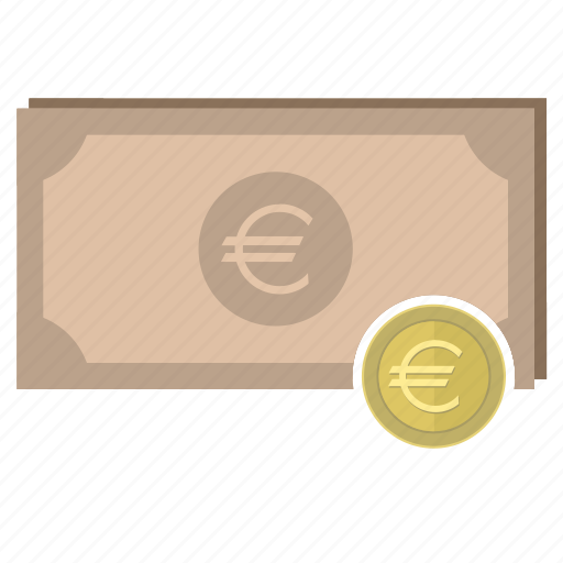 banknote, coin, euro, europe, money, payment icon