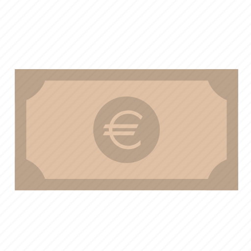 banknote, euro, money, payment icon