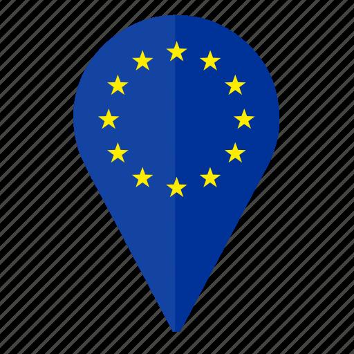 country euro europe location pointer icon