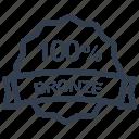 bronze, guarantee, label, percent