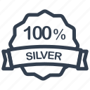 guarantee, label, percent, silver